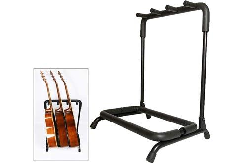 Multi Guitar Stand Rack, Foldable Portable Black Guitar Holder