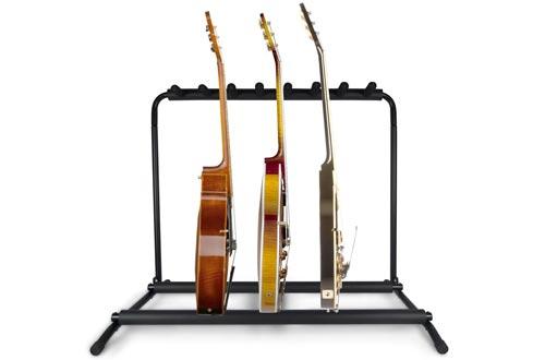 Pyle Multi Guitar Stand 7 Holder Foldable Universal Display Rack