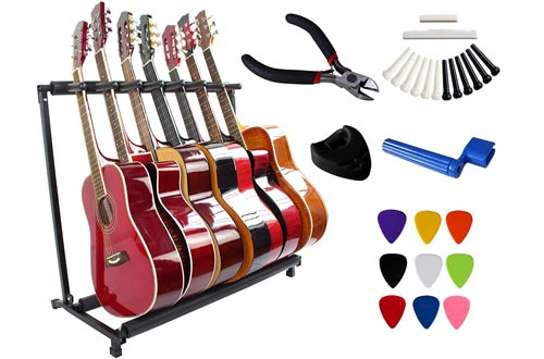YMC Folding Multiple Guitar Stand for Acoustic Electric Guitar Bass Rack