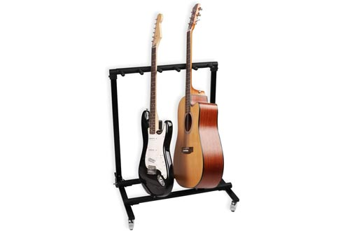 Mr.Power Guitar Rolling Stand Multiple Instrument Stage Studio Display Rack Movable