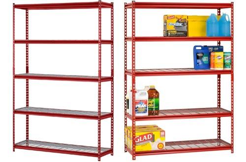 Muscle Rack UR184872-R 5-Shelf Steel Shelving Unit