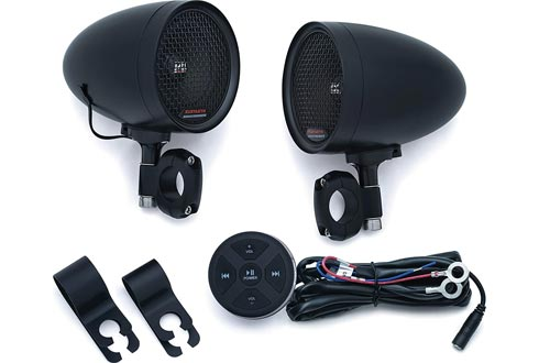 Kuryakyn 2713 MTX Road Thunder Weather Resistant Motorcycle Speakers