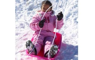 Slippery Racer Downhill Sprinter Winter Toboggan Snow Sled