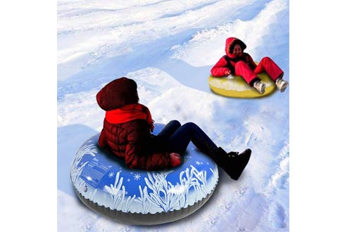 HIWENA Snow Tubes, Inflatable Snow Tubes for Family