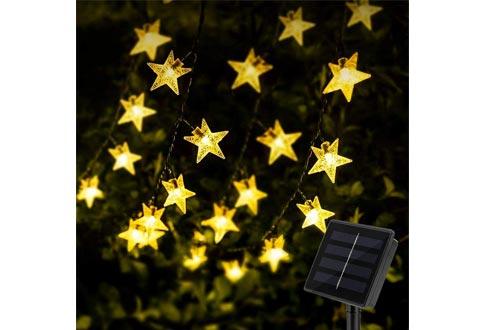 KeShi 8 Modes Solar Powered Twinkle Fairy Lights, Waterproof Star Twinkle Lights