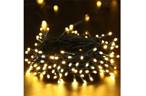 Toodour Solar Christmas Lights, 72ft 200 LED 8 Modes Outdoor Christmas String Lights,