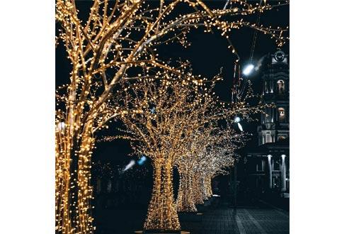 WOOHAHA Solar Powered String Lights for Christmas Patio Home