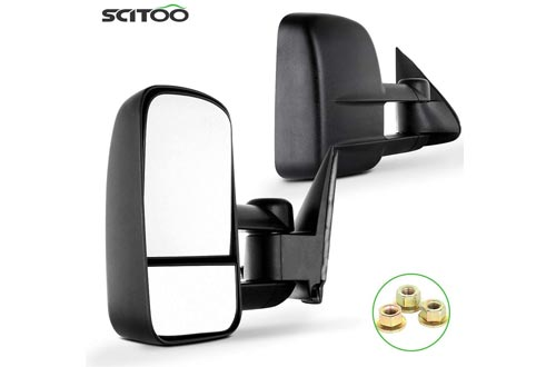 SCITOO Towing Mirrors Fit Chevy GMC Exterior Accessories Mirrors