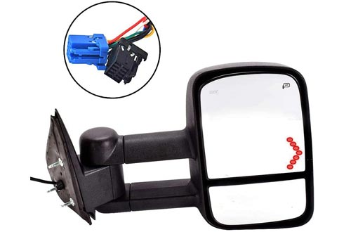 DEDC Tow Mirrors Side Mirrors Towing Mirrors Power Heated