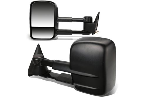DNA Motoring TWM-001-T222-BK Pair of Towing Side Mirrors