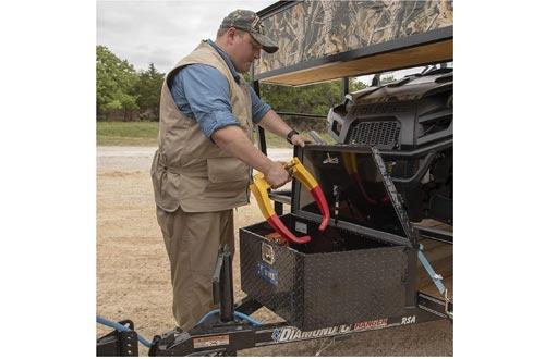 UWS EC20422 34-Inch Gloss Black Heavy-Wall Aluminum Trailer Tongue Tool Box