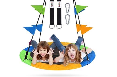 ZNCMRR Flying Saucer Tree Swing Set 40 Inch for Kids