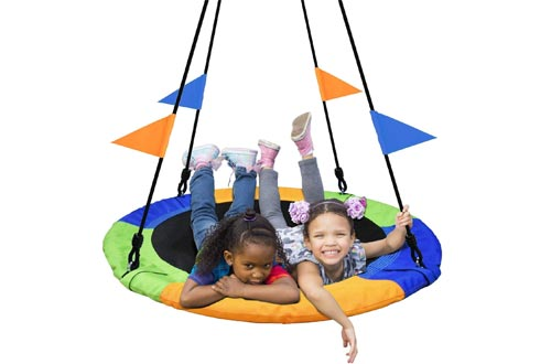 PACEARTH 40 Inch Saucer Tree Swing